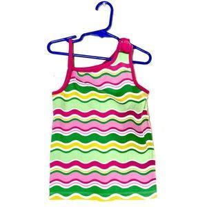 Gymboree Striped Tank Top Bow Girls Size 7